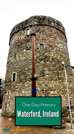 Ireland's national tourist bureau shows two visitors the highlights of Waterford Ireland in one day. Click this pin for the full itinerary.