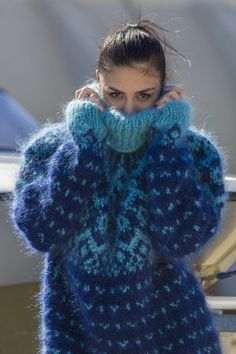 Ready to Ship Iceland Mohair Sweater, Icelandic Hand Knitted Jumper in size L Hand Knitted Sweaters, Mohair Sweater, Wool Sweaters, Gros Pull Mohair, Icelandic Sweaters, Nordic Sweater, Thing 1, Pullover, Winter Fashion