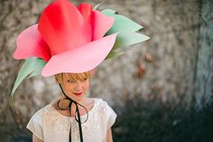 Paper flower hat by Brittany of The House That Lars Built made for a Today show contest.