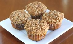 Pumpkin Cinnamon Streusel Muffins from Two Peas and Their Pod #recipe #pumpkin