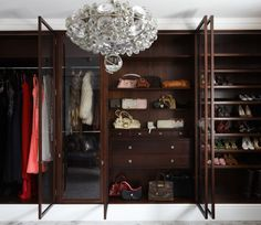 Bespoke walnut wardrobe. Shoe storage, drawers and shelving. Hand made in London. www.timamery.com