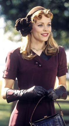 Rachel McAdams. She is seriously so pretty and I love ALL of her hair makeup and outfits in The Notebook.