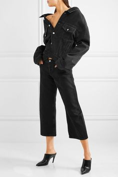 Balenciaga | Rockabilly cropped high-rise wide-leg jeans | NET-A-PORTER.COM
