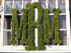 Large Moss Monogram for your #wedding or home decor! // #VintageShore via Etsy.com- #Monograms