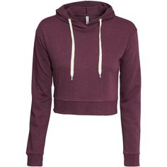H&M Short hooded top ($13) ❤ liked on Polyvore featuring tops, hoodies, jackets, sweaters, shirts, burgundy, short hooded sweatshirt, cotton hooded sweatshirt, pullover hooded sweatshirt and hoodie sweatshirts