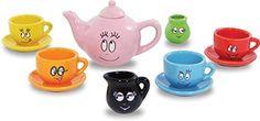 Vilac Barbapapa Porcelain Play Tea Set Childrens Toy inc Cups Saucers Teapot and More