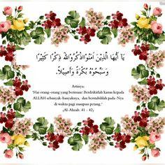 Al-Ahzab: 41-42