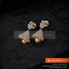 ‪#‎Marvellous‬ ‪#‎gorgeous‬ ‪#‎beautiful‬ ‪#‎gold‬ ‪#‎diamond‬ ‪#‎jhumka‬ from our collection.
