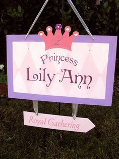 Princess Party Decorative Birthday Sign