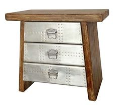 aviator style furniture | Chest 3-Drawer Aviator, Industrial style