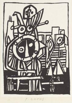 GrossFrantišek (1909 - 1985) | Machine | Aukce obrazů, starožitností | Aukční dům Sýpka Mondrian, Klimt, New Pins, New Art, Modern Art, Auction, Darth Vader, Artwork, Artist