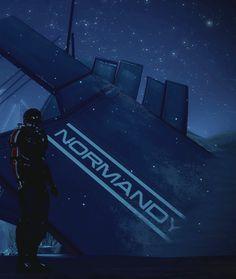 Mass Effect : GIF : Shepard at Normandy Crash Site