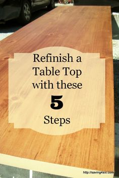 How To Refinish a Table or Desk