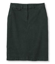 Bayside Stretch Corduroy Skirt: Skirts | Free Shipping at L.L.Bean