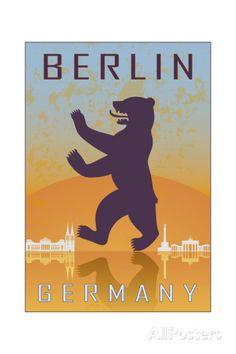 Berlin Vintage Poster Kunstdruck