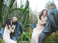 I can't get enough of those genuine laughs. So sweet :)   Romantic Columbia Gorge marriage session | Heartson FIre by Kari Rae, Portland Oregon Couples Photographer, love photographer