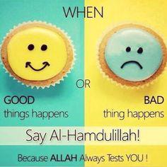 Alhamdulillah ( Thank You Allah )