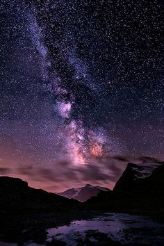 Milky Way over Punta Basei .. by Edoardo Brotto Source:lori-rocks #milky way