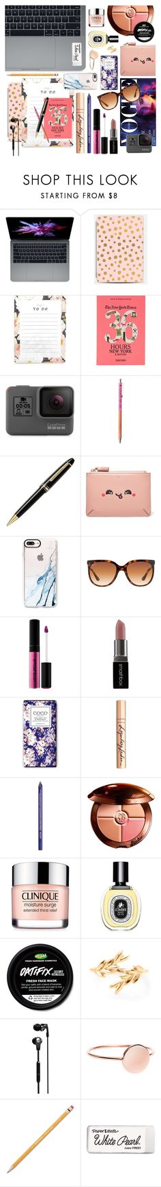"""My Desktop"" by ashley-rebecca ❤ liked on Polyvore featuring Taschen, GoPro, Montblanc, Anya Hindmarch, Casetify, Ray-Ban, Smashbox, Charlotte Tilbury, NYX and Guerlain"