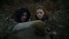 S3E7 Screenshot: Jon and Ygritte out hunting.