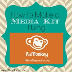 How to make a media kit using PicMonkey, courtesy of the SITSgirls  http://www.thesitsgirls.com/make-money/how-to-make-a-media-kit/?utm_source=feedburner_medium=email_campaign=Feed%3A+thesitsgirls%2FdIsr+%28The+SITS+Girls%29