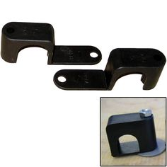 """Weld Mount Single Poly Clamp f/1/4"""" x 20 Studs - 1"""" OD - Requires 1.75"""" Stud - Qty. 25"""