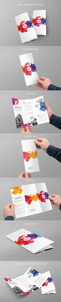 Colorful Abstract Trifold. Download here: http://graphicriver.net/item/colorful-abstract-trifold/12937057?ref=abradesign
