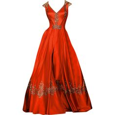 Randa Salamoun - edited by mlleemilee ❤ liked on Polyvore featuring dresses, gowns, medieval, fantasy, long dresses, long red dress, red gown, red evening dresses and red evening gowns