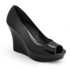 Patent Peep Toe Pumps by Dots in Black $24.80