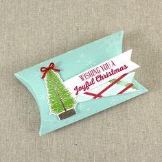 Joyful Christmas Pillow Box by Lizzie Jones for Papertrey Ink (October 2015)