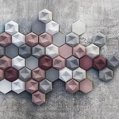 """Had to regram @nathan_jac, love this colour palette from @capewhitedesign // marsala x blush x grey x white  #colour"""