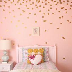 Gold Dots Muursticker Baby Nursery Stickers Decals Home Decor in Gold Dots Muursticker Baby Nursery Stickers Decals Home Decor van Muurstickers op AliExpress.com | Alibaba Groep