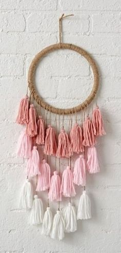 Each tassel hanging
