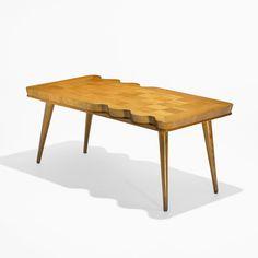 Jean Royère, attribution coffee table France, c. 1950 oak 43.5 w x 21.5 d x 18.5 h