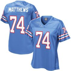 14c7bbbc Bruce Matthews Houston Oilers NFL Pro Line Women's Retired Player Jersey –  Royal