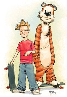 Geek Art Gallery: Fan Art: Calvin and Hobbes Fan Art
