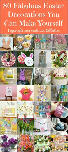 80 Fabulous Easter Decorations You Can Make Yourself - Cute and creative Easter decorating ideas! 80 Fabulous Easter Decorations You Can Make Yourself Spring Crafts, Holiday Crafts, Holiday Fun, Holiday Ideas, Diy Plants, Hoppy Easter, Easter Décor, Easter Ideas, Easter Food