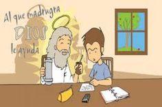 La expressió en castellà a quien madruga Dios le ayuda, en català s'anomena, qui matina fa farina.