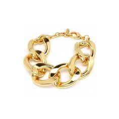 Radena's Chunky Gold Metal Link Bracelet - Fantasy Jewelry Box - Polyvore