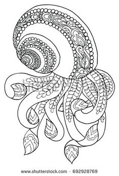 Zentangle doodle patterned fantasy