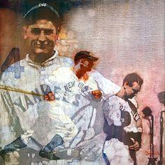 New York Yankees Lou Gehrig by Bernie Fuchs.