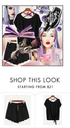 """""""ROMWE#10"""" by sabahetasaric ❤ liked on Polyvore featuring Lancôme"""
