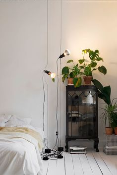 white summer hipster vintage room bedroom sleep Home inspiration indie bed DIY house details cosy cozy sleeping spring decor decoration minimalism minimal industrial bedding deco inspo all white bedroom inspiration bedroom inspo DIY furniture Home Bedroom, Bedroom Decor, Modern Bedroom, Minimal Bedroom, Garden Bedroom, Light Bedroom, Budget Bedroom, Bedroom Plants, Bedroom Black