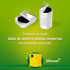 As latas de conservas não necessitam de ser lavadas antes de colocadas no ecoponto amarelo.