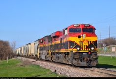 RailPictures.Net Photo: KCS 4854 Kansas City Southern Railway GE ES44AC at LeClaire, Iowa by Tyler McCall