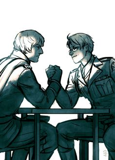 Ivan vs. Alfred; this picture is referencing the Cold War - Art by cidershark.tumblr.com