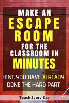 How To Make Any Worksheet Into an Escape Room in the Classroom Wie erstelle ich ein Arbeitsblatt im Klassenraum? Escape Room – Teach Every Day Escape The Classroom, Escape Room For Kids, Escape Room Puzzles, Middle School Classroom, Future Classroom, Escape Room Diy, Classroom Decor, Room Escape Games, History Classroom