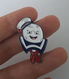 Image of GHOSTBUSTERS 1984 Stay Puft Enamel pin