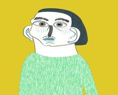 Portrait fashion illustration by Ashley Percival. fashion illustration - art - editorial - illustrator
