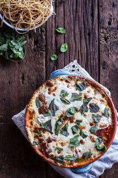 Quinoa Crusted Baked Three-Cheese Zucchini and Eggplant Parmesan | halfbakedharvest.com
